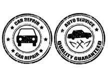 Auto service stamps Stock Images