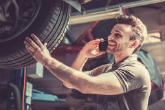At the auto service Stock Image
