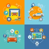 Auto service icon flat Stock Photography