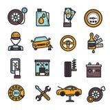 Auto Service Icon Set Royalty Free Stock Photo