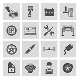 Auto Service Icons. Auto car service icons set of battery tires wheel engine brake repair isolated vector illustration Royalty Free Stock Images