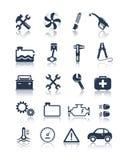 Auto service icons. Editable vector set Stock Photos