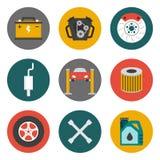 Auto Service Icons Flat Stock Photo
