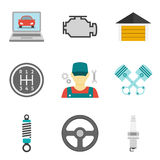 Auto Service Icons Flat vol 2 Royalty Free Stock Image