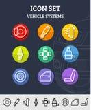 Auto Service Icons Stock Image
