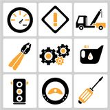 Auto service icons. Set of 9 auto service and garage icons Stock Images