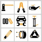 Auto service icons Royalty Free Stock Image