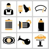 Auto service icons Royalty Free Stock Images