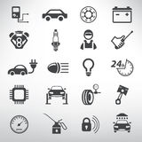Auto service icons set. Repair and spare parts shop Royalty Free Stock Photography