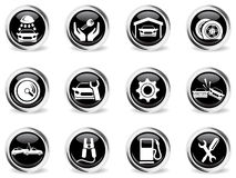 Auto Service Icons set Royalty Free Stock Image
