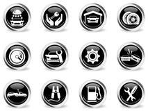 Auto Service Icons set Royalty Free Stock Image
