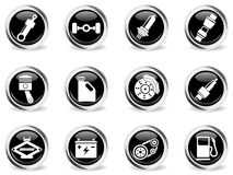 Auto Service Icons set. For web sites and user interface Royalty Free Stock Photos