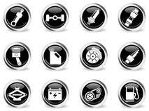 Auto Service Icons set Royalty Free Stock Photos