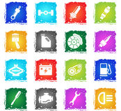 Auto Service Icons. Auto Service simply symbol in grunge style for user interface design Royalty Free Stock Photos