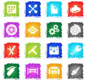 Auto Service Icons. Auto Service simply symbol in grunge style for user interface design Stock Photos