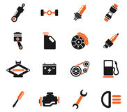 Auto Service Icons Stock Photography
