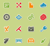 Auto Service Icons Royalty Free Stock Photo