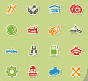 Auto Service Icons Stock Photos