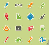 Auto Service Icons Stock Photo