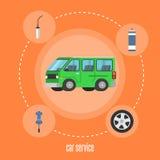 Auto-Service-Illustration Stockbild