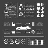 Auto service infographic Stock Photos
