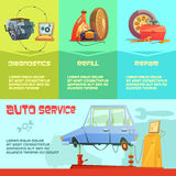 Auto Service Infographic Set Stock Image