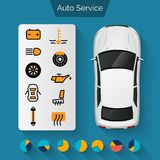 Auto Service Infographics Stock Photography