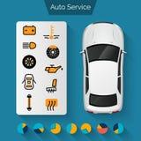 Auto Service Infographics Stock Photography