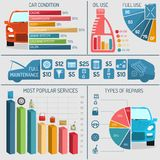 Auto Service Infographics Royalty Free Stock Images