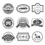 Auto service labels Royalty Free Stock Photo