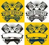 Auto service logo Royalty Free Stock Images