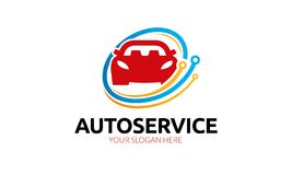 Auto Service Logo Template. Minimalist and modern logo. Simple work and adjusted to suit your needs Stock Photos