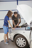 In Auto Service Royalty Free Stock Photos