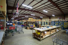 Auto Service Parts Warehouse Royalty Free Stock Images