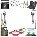Auto-Service-Rahmen Stockfotos