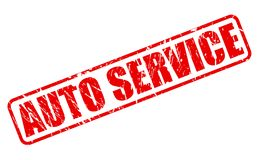 AUTO SERVICE red stamp text Royalty Free Stock Photo