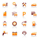 Auto service & repair icons Royalty Free Stock Photo