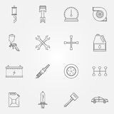 Auto service or repair icons Stock Photo