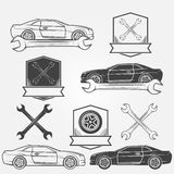 Auto service or repair labels Stock Image