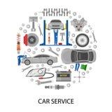Auto Service Round Design Stock Photo