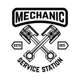 Auto service. Service station. Car repair. Design element for logo, label, emblem, sign. Vector illustration Stock Image
