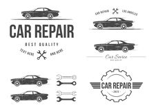 Auto service set Royalty Free Stock Photography