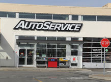 Auto Service. Store in Port Coquitlam Canada. Photo taken February 26, 2014 Royalty Free Stock Photo