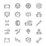 Auto service thin icons Royalty Free Stock Images