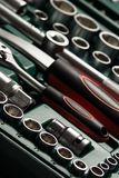 Auto service tools and ratchet sets. Royalty Free Stock Photography