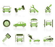 Auto service and transportation icons Stock Photography