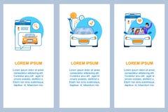 Auto-Service-Vertikalen-flacher Fahnen-Satz kommerziell lizenzfreie abbildung