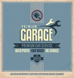 Auto service vintage poster design Royalty Free Stock Photography
