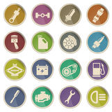 Auto Service web icons Royalty Free Stock Image