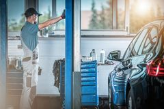 Auto Service Worker royalty free stock photo
